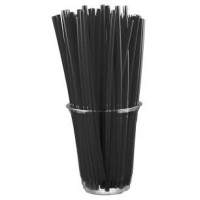 Plastic Flexible Black Straw [250 straws]
