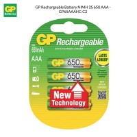 GP Rechargeable Battery NIMH 2S 650 AAA - GP65AAAHC-C2