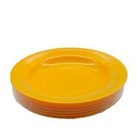 Deep Plate (Yellow)- 6 pcs 9""