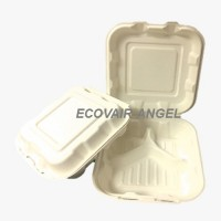 Biodegradable & Compostable 3 Compartment  Lunch Box