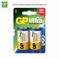 GP Ultra Plus Alkaline Battery 2S D - GP13AUP-C2