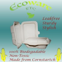Leakfree & Biodegradable (Corn Starch) Lunch Box (200 Pieces Carton)