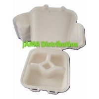Biodegradable and Compostable 4 Compartment Box (25 Units Per Outer)