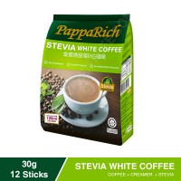 PAPPARICH - Stevia White Coffee 12 sticks, 30g each (24 Units Per Carton)