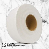 Blanc-Professional Economy Jumbo Roll Toilet Tissue for Businesses (12 Units Per Outer)