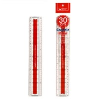 UNICORN 30CM GRID LINE GRAPHIC RULER UGR-130