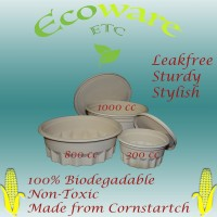Leakfree & Compostable (Corn Starch) Bowl 800CC (200 Pieces Carton)