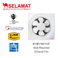 SELAMAT Wall Mounted Exhaust Fan 6'' (1.52kg Per Unit)