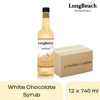 Long Beach White Chocolate Syrup 740ml (12 bottles)
