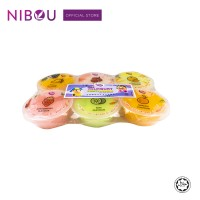 Nibou YOURGURT Fruity Pudding with Nata De Coco Assorted (80gm x 6's x 18)