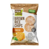 RICE UP- POPPED BROWN RICE CHIPS with CHEESE 60g (24 Units Per Carton)