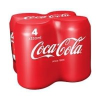 Coca Cola 330ml - Multipack of 4 cans x 6