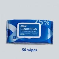 Alcosm 75% Alcohol Classic Wipes  - 50 wipes (24 Packs Per Carton)