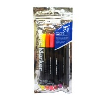 UNICORN ASST FABRIC MARKER UFM-125F-B 6'S (144 Units Per Carton)