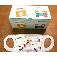 3 Ply Kid's Face Masks with fabric ear loop (10box per Ctn) BFE 99%. Free 1 premium soft toothbrush (Made in Korea)